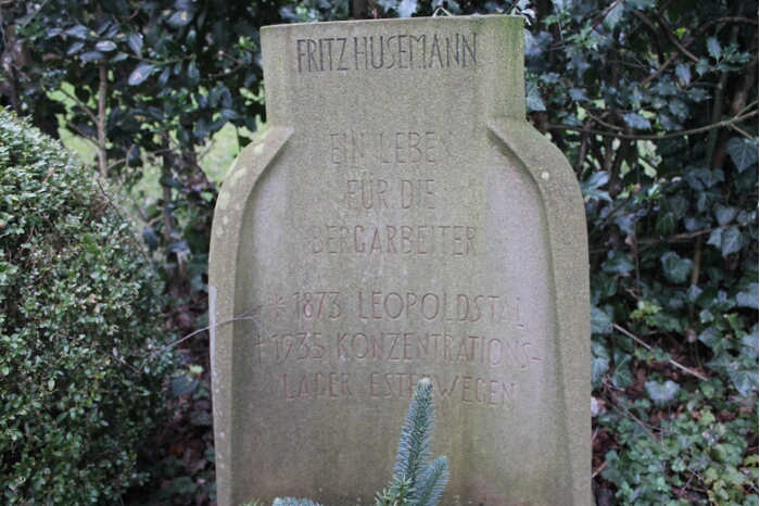 Grabstein Fritz Husemann Bochum